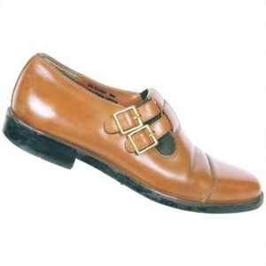Fratelli Footwear Mens Brown Monk Strap Loafers 8M